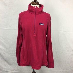 Patagonia Pink Quarter Zip Fleece Pullover